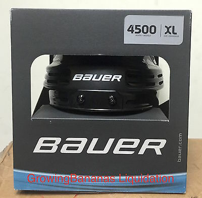 Bauer 4500 Hockey Helmet! Brand New, Black X-Large XL Ice Roller CSA HECC CE
