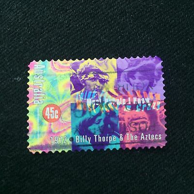 Australian 1998 45c Billy Thorpe & The Aztecs Stamp Used Excellent Condition