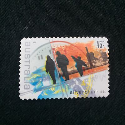 Australian 2001 45c Silverchair Postage Stamp Used Excellent Condition