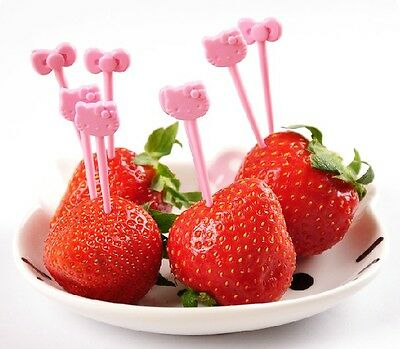 Hellokitty Party Decoration ~ fruit dessert Forks Toothpick ly-77