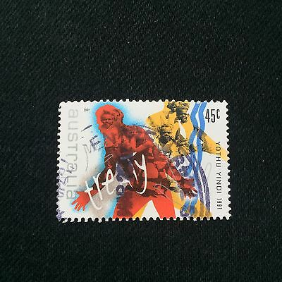 Australian 2001 45c Yothu Yindi Postage Stamp Used Excellent Condition