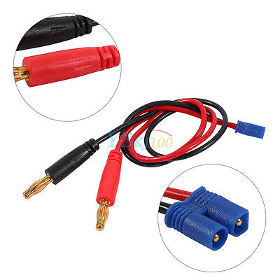 30cm EC2 Male to 4mm Banana Plug Connector Cable For RC Lipo Battery Charging
