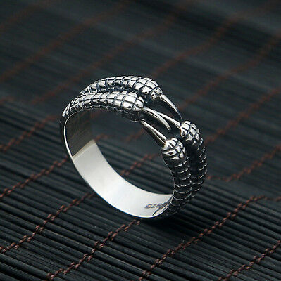 Punk Rock Men's Stainless Steel Heavy Biker Finger Band Ring Cool Gothic Jewelry