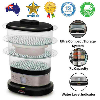 Vegetable Steamer Food Steaming Machine Fish Eggs Veg Compact Tefal New