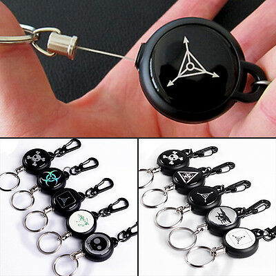 TAD Retractable Pull Chain Reel Card Badge Holder Recoil Belt Metal Key Chain