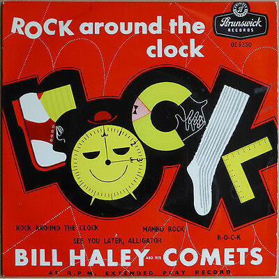 """7"""" EP Bill Haley and his Comets - Rock Around The Clock - UK 1956 - VG++"""