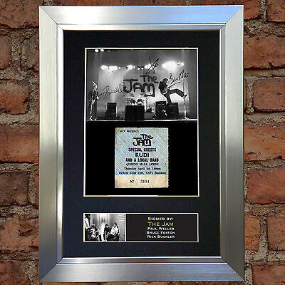 THE JAM Signed Autograph Mounted Photo Reproduction A4 Print 187