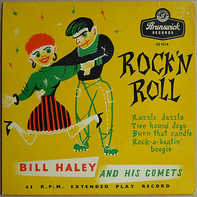 """7""""  EP Bill Haley and his Comets - Rock' N Roll - UK 1956 - VG+(+) to VG++"""