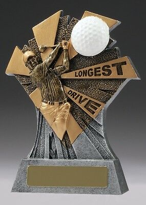 Golf Trophy Longest drive 155mm Engraved Free