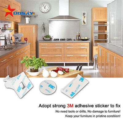 4/10pcs Magnetic Baby Child Kids Proof Cupboard Cabinet Drawer Safety Locks Key