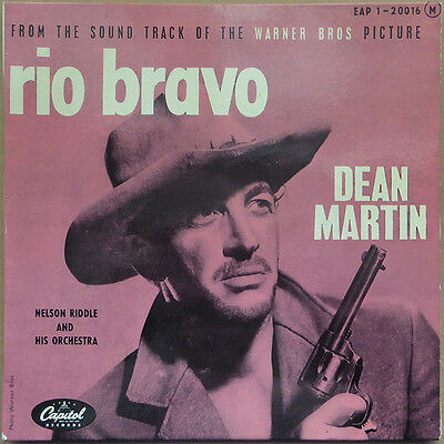 """7"""" EP Dean Martin / Nelson Riddle And His Orchestra - Rio Bravo - FR 1959 VG+(+)"""