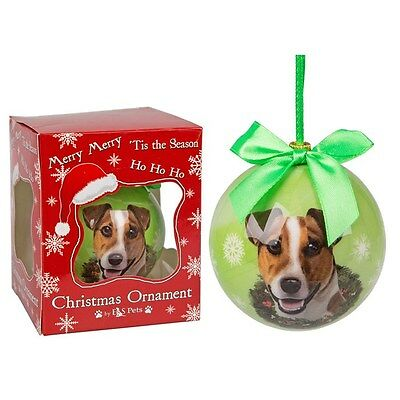 Jack Russell Terrier Dog Christmas Bauble Ornament Animal Gift Boxed tree