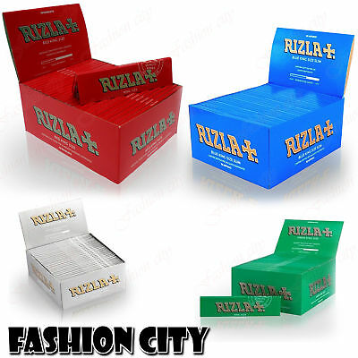 Box Of 50 Booklets King Size Rizzla+ Natural Four Colours Organic Rolling Papers