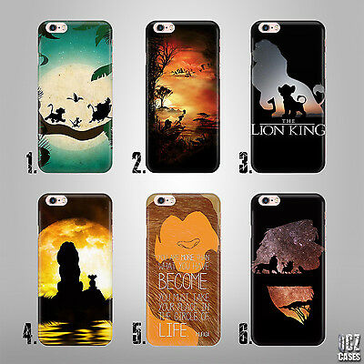 Lion King Disney Simba Mufasa Uv Case Cover For Iphone 4/4S 5/5S/se 6/6S Plus 7