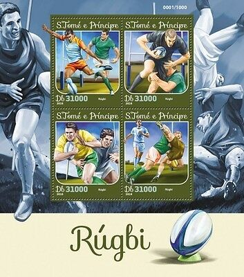 Z08 ST16216a Sao Tome et Principe 2016 Rugby MNH