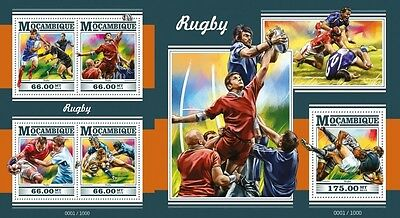 Z08 MOZ15324ab MOZAMBIQUE 2015 Rugby MNH Set