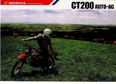 1987 HONDA CT200 Auto-AG  4 Page Motorcycle Brochure -  NCS
