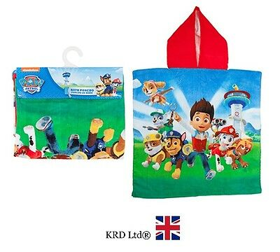 Official PAW PATROL Hooded Kids PONCHO Towel Christmas Bday Gift Stocking Filler