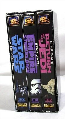 VHS Movies Lot of Star Wars Trilogy Collectible