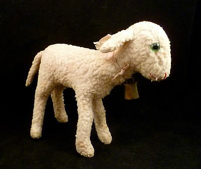 """Antique Vintage Steiff 1930s Lamb Wool Plush With Button In Ear 6"""" 17cm"""