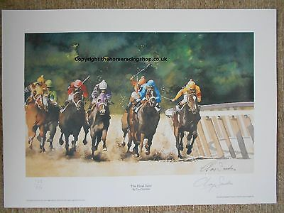 The Final Turn by Clay Saunders Fine Art LE Horse Racing Picture