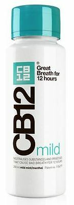 CB12 Oral Rinse Mild Mint 250ml Green Bottle (1,2,3 and 6 packs) Genuine product