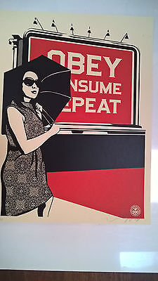 Shepard Fairey - Obey Billboard Consume- signed & numbered - Obey