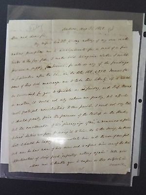 William Crowell - 1842 Signed Letter