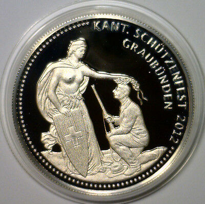 Switzerland 2012 Shooting Thaler, Graubunden Festival 50 Francs Proof Silver