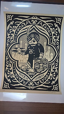 Shepard Fairey - rock the casbah - signed & numbered - Obey