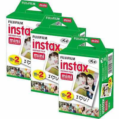 Fuji Instax Mini Film for Fujifilm Mini 8 7s & Mini 90, 50 Cameras (60 shots)