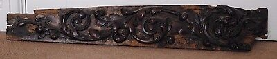Impressive 17th century wooden decorated furniture panel