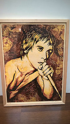Shepard Fairey - Iggy Pop Canvas - signed & numbered- Obey