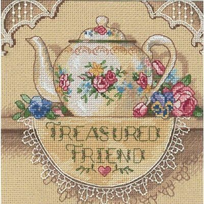Dimensions - Counted Gold Cross Stitch Kit - Treasured Friend Teapot - D06904