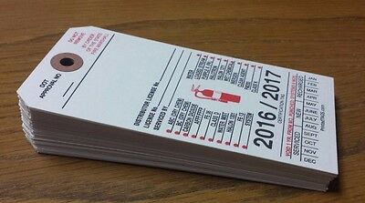 1000, Blank White Fire Extinguisher Inspection Paper Tags Recharge Tags