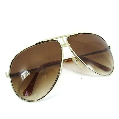 Big Aviator Sunglasses Occhiali Lunettes Alpina Style Anni 70 Very Vintage Italy