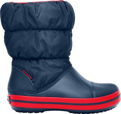 Crocs WINTER PUFF BOOT Kids Boys Girls Warm Insulated Lined Snow Boots Navy/Red