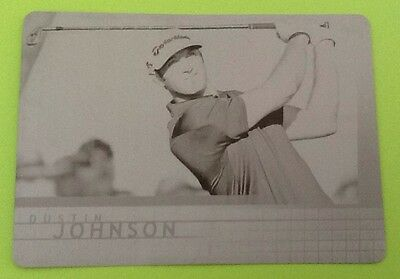 2012 Dustin Johnson Ud Sp Game Used Printing Plate Rookie Golf Card 1/1
