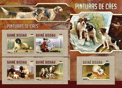 Z08 Imperforated GB16303ab GUINEA-BISSAU 2016 Dogs MNH Set