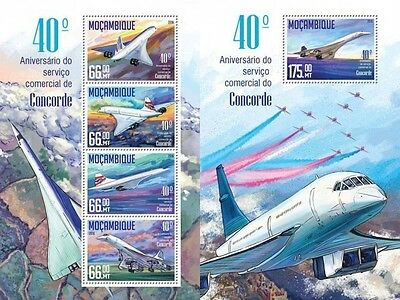 Z08 IMPERFORATED MOZ16215ab MOZAMBIQUE 2016 Concorde MNH Set