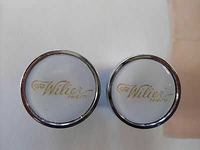Vintage style Wilier Triestina Handlebar End Plugs