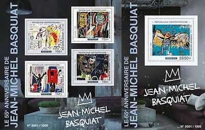 Z08 Imperforated CA15504ab CENTRAL AFRICA 2015 Jean?Michel Basquiat MNH Postf