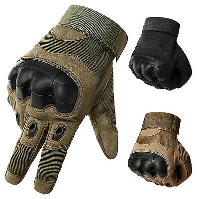 Touch Screen Military Tactical Hard Knuckle Airsoft Outdoor Full Finger Gloves