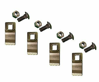 4 - Square Hole Replacement Carbide Auger Teeth w/ Hardware - L13-G558