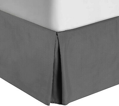 "TAILORED Bed Skirt Long Staple Fiber Durable, Comfortable 14"" Drop Colors"