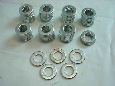 Nos Lot Of Steel Flat Washers 79 Count  Od 1.00  Id .585  Thickness .100  Approx