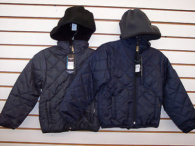 Boys Sahara Club $48 Quilted Stitch Plush Jacket w/ Fleece Hood Size 4 - 7