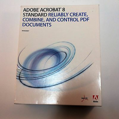 Adobe Acrobat® 8 Standard Disc, Papers, Box Pre-owned and Used original Serial