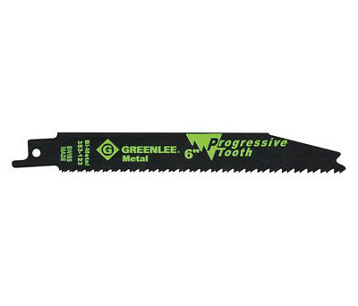 Greenlee 353‑123 Progressive Tooth Reciprocating Saw Blade 8/18 TPI 5 Pack