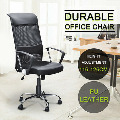 Modern Black Adjustable High Back Swivel Executive Mesh Computer Office Chair